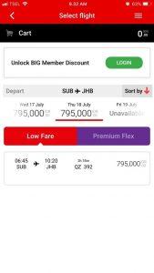 Informasi harga tiket AirAsia sehari sebelum dan sesudah jadwal yang dipilih memudahkan kita menyusun itenerary